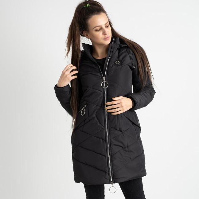 6039-1 Vikstory черная куртка женская на синтепоне ( 4 ед.размеры: 42.44.46.48) Vikstory: артикул 1125390