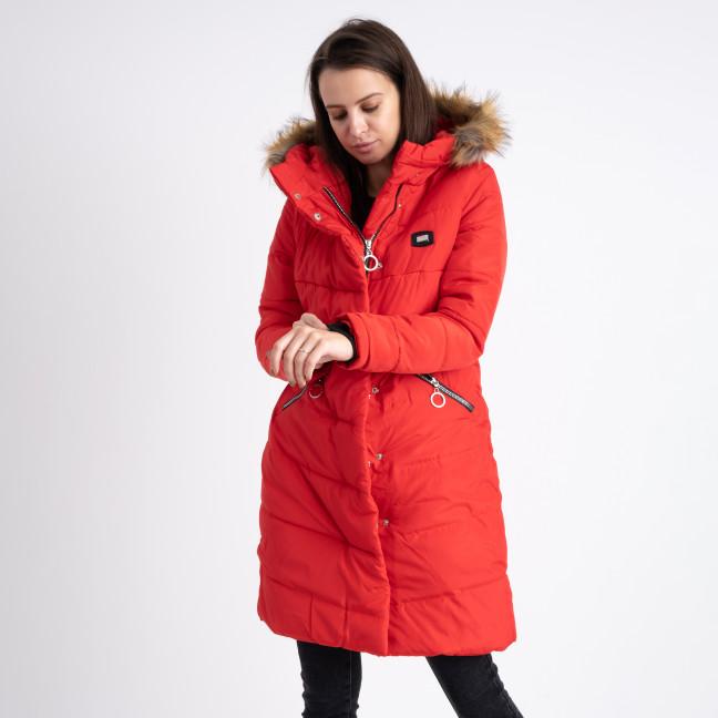 6041-4 Vikstory красная куртка женская на меховой подкладке ( 4 ед.размеры: 42.44.46.48) Vikstory: артикул 1125402