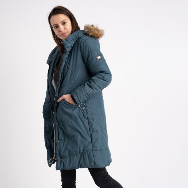 6041-5 Vikstory зеленая куртка женская на меховой подкладке ( 4 ед.размеры: 42.44.46.48) Vikstory: артикул 1125404