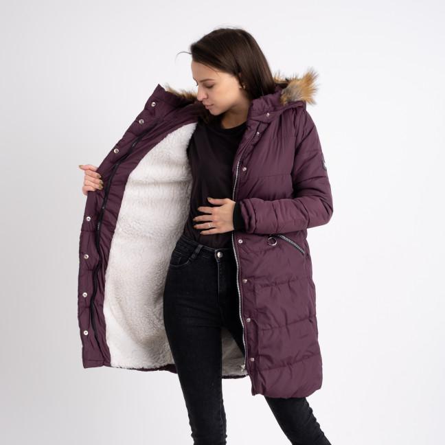 6041-6 Vikstory фиолетовая куртка женская на меховой подкладке ( 4 ед.размеры: 42.44.46.48) Vikstory: артикул 1125403