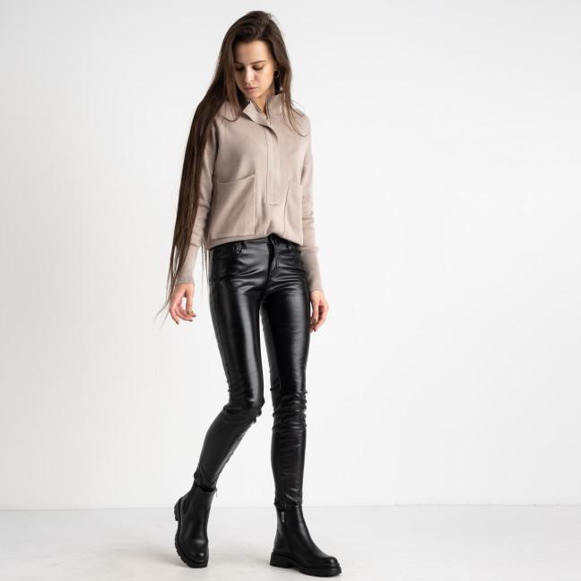 5610-2 M.Sara черные брюки из эко-кожи на флисе (6 ед. размеры: 26.27.28.29.30.32) M.Sara: артикул 1125473