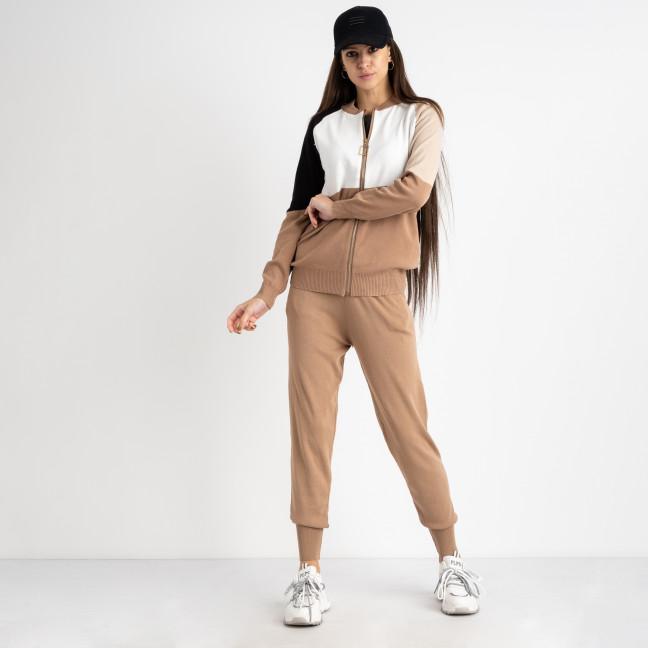 1605-2 M.K.Store бежевый спортивный костюм женский (3 ед.размеры: универсал 44-48) M.K.Store: артикул 1125343