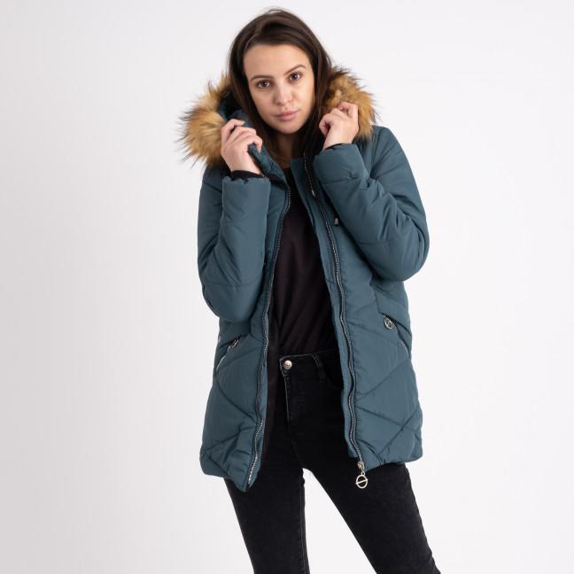 6043-5 Vikstory зеленая куртка женская на меховой подкладке (4 ед.размеры: 42.44.46.48) Vikstory: артикул 1125399