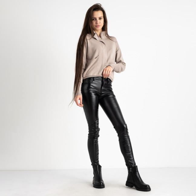 5610-1 M.Sara черные брюки из эко-кожи на флисе (6 ед. размеры: 26.27.28.29.30.31) M.Sara: артикул 1125472