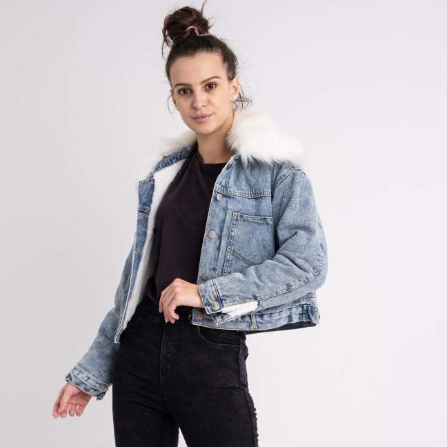 0701 Fashion куртка женская джинсовая на белой меховой подкладке (3 ед. размеры: M.L.XL) Fashion: артикул 1125551