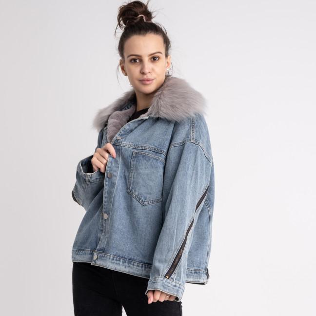 1012-3 Fashion куртка женская джинсовая на меховой подкладке (3 ед. размеры: M.L.XL) Fashion: артикул 1125548