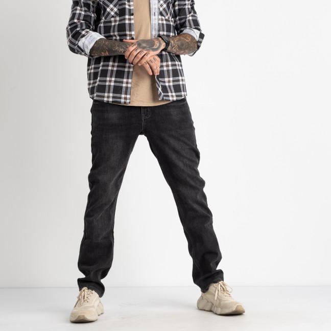 2160 V.J.Ray джинсы мужские полубатальные на флисе серые стрейчевые  (8 ед. размеры: 32.33/2.34/2.36/2.38) V.J.Ray: артикул 1125538