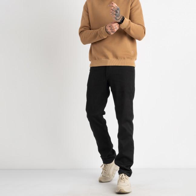 2114 Dsouaviet черные джинсы на флисе мужские стрейчевые  (8 ед. размеры: 29.30.31.32.33.34.36.38) Dsouaviet: артикул 1124935