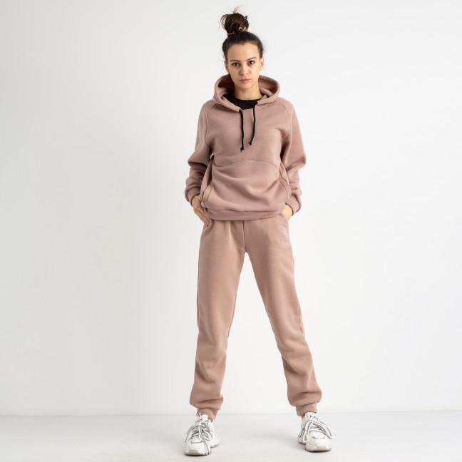0247 пудровый спортивный костюм женский из трехнитки на флисе (4 ед. размеры: 42.44.46.48) Спортивные штаны: артикул 1125612