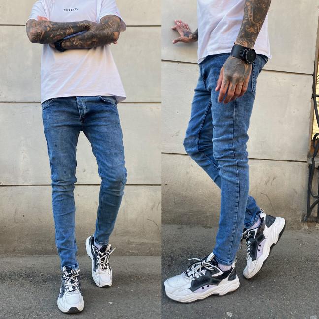 0480 Jeckerson джинсы мужские с царапками синие весенние стрейчевые (29-36, 8 ед.) Jeckerson: артикул 1107522
