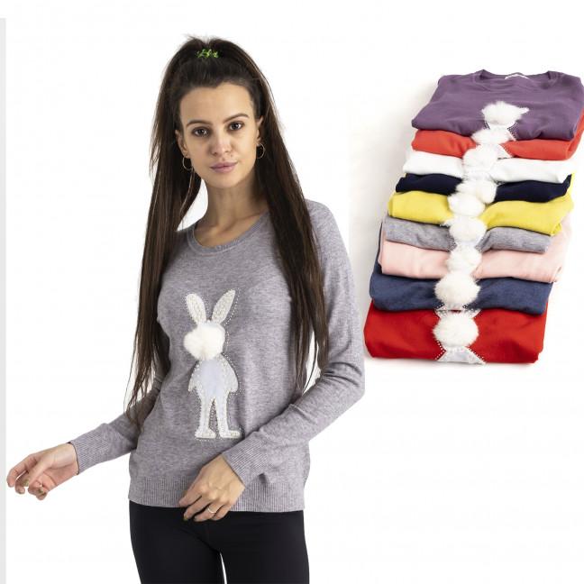 5518 Kiss Me свитер женский микс 5-ти цветов ( 5 ед. размеры : M/L.L/XL) Kiss me: артикул 1125452