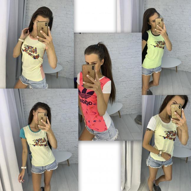 3706-99 футболка женская микс моделей и цветов  (10 ед. размеры: универсал 42-44) Футболка: артикул 1123293