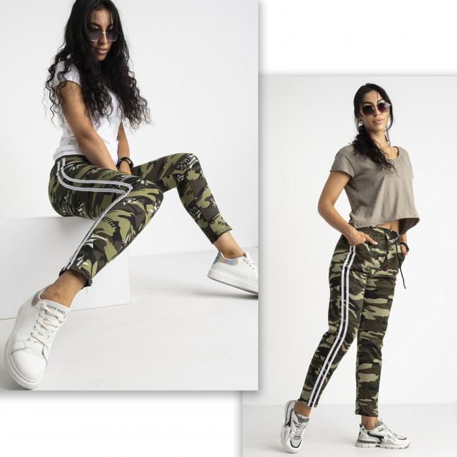 0902-01 Li Ruo Ya спортивные брюки женские камуфляжные на флисе микс 2-х моделей (5 ед. размер: универсал  44-48) Li Ruo Ya: артикул 1124903