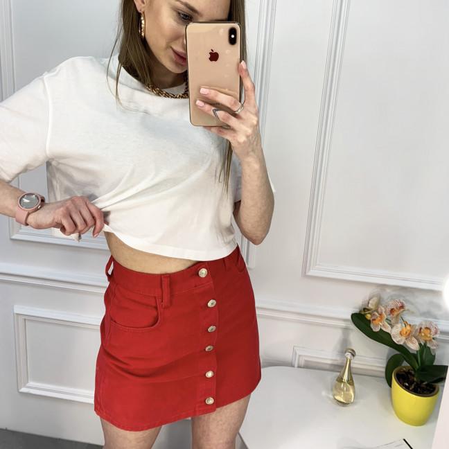 2952 Arox юбка на пуговицах красная котоновая (6 ед. размеры: 34.34.36.36.38.40) Arox: артикул 1120209