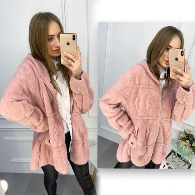 1427-3 розовая куртка женская из альпаки (1 ед. размер: универсал 42-46) Куртка: артикул 1119914