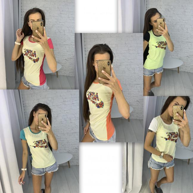 3706 футболка женская микс цветов без выбора цветов (10 ед. размеры: универсал 42-44) МИКС: артикул 1123292