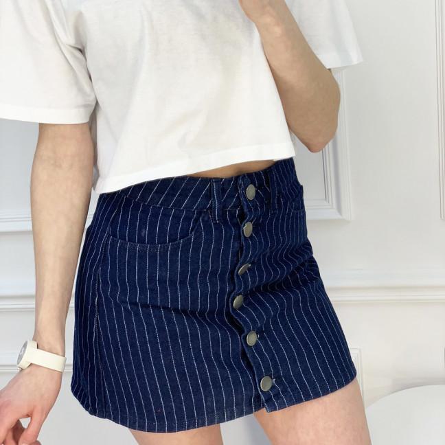 0200-6 Defile юбка на пуговицах синяя котоновая (6 ед. размеры: 34.36.36.38.38.40) Defile: артикул 1120211