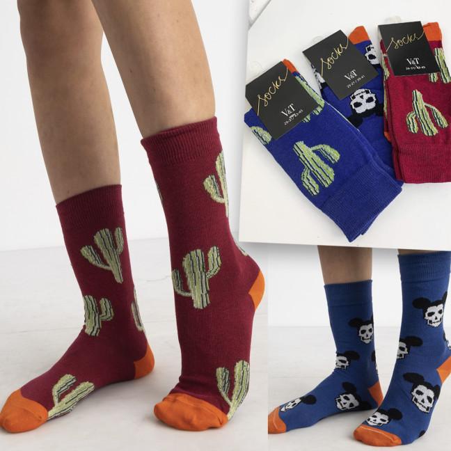 0052 носки цветные микс моделей и цветов (36 ед. размеры: 36-39 и 39-41 ) Носки: артикул 1124917