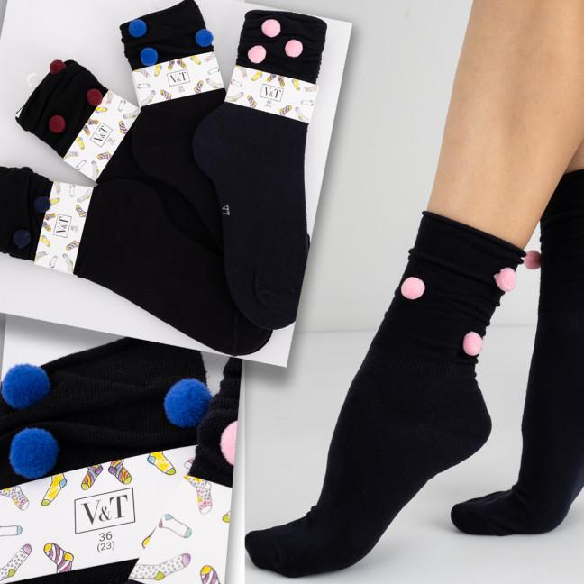 0117 носки женские микс цветов  (12 ед. размеры: 36-40 ) Носки: артикул 1124920