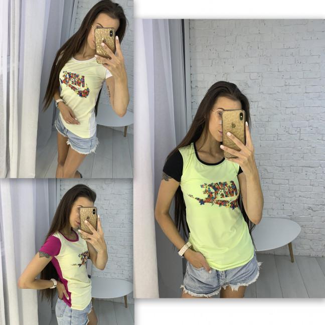3706-01 футболка женская микс цветов без выбора цветов (3 ед. размеры: универсал 42-44) Футболка: артикул 1123365