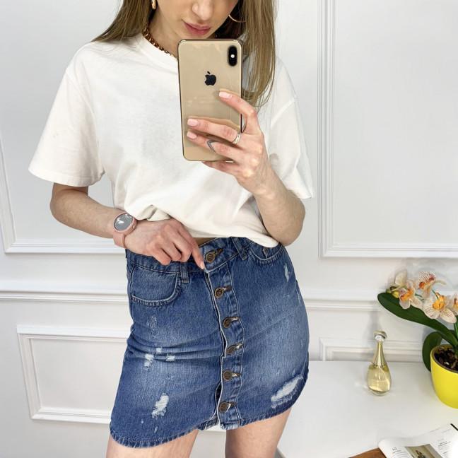 0022-124 юбка джинсовая синяя котоновая (6 ед. размеры: 34.36.38.38.40.42) Юбка: артикул 1120208