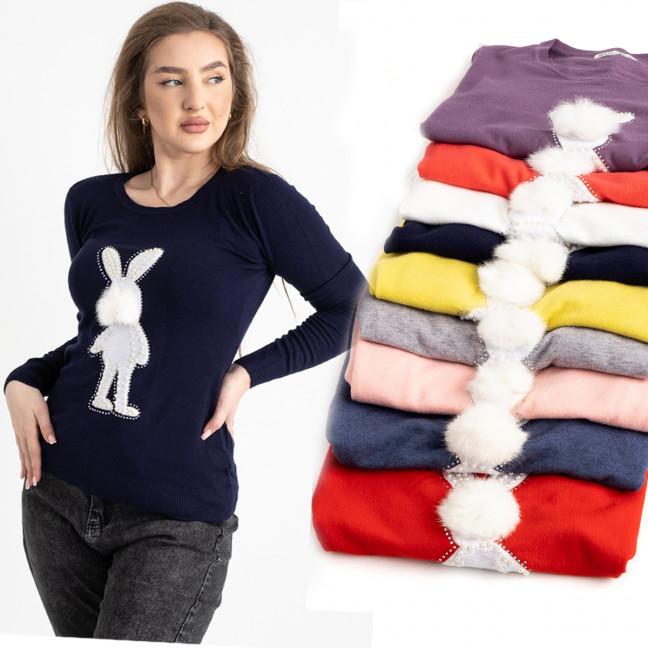 5518 Kiss Me свитер женский полубатальный микс 5-ти цветов ( 5 ед. размеры : M/L.L/XL) Kiss me: артикул 1125444