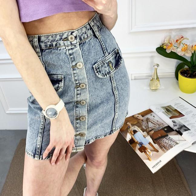 2824-1 XRay юбка джинсовая на пуговицах голубая котоновая (6 ед. размеры: 34/2.36/2.38.40) XRAY: артикул 1120212