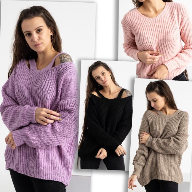 0225 свитер женский микс цветов и моделей (4 ед. размеры: универсал 42-46) Свитер: артикул 1125433