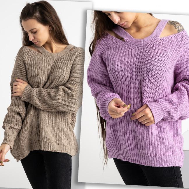 0225-1 свитер женский микс двух цветов (2 ед. размеры: универсал 42-46) Свитер: артикул 1125434
