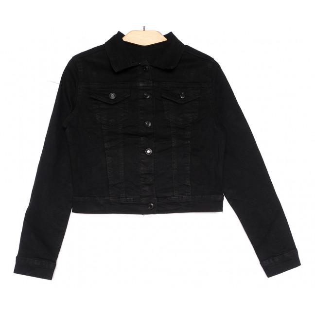 0824 New Jeans куртка джинсовая женская черная весенняя стрейчевая (XS-XXL, 6 ед.) New Jeans: артикул 1105123