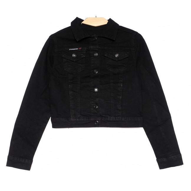 0825 New Jeans куртка джинсовая женская черная весенняя стрейчевая (XS-XXL, 6 ед.) New Jeans: артикул 1105124