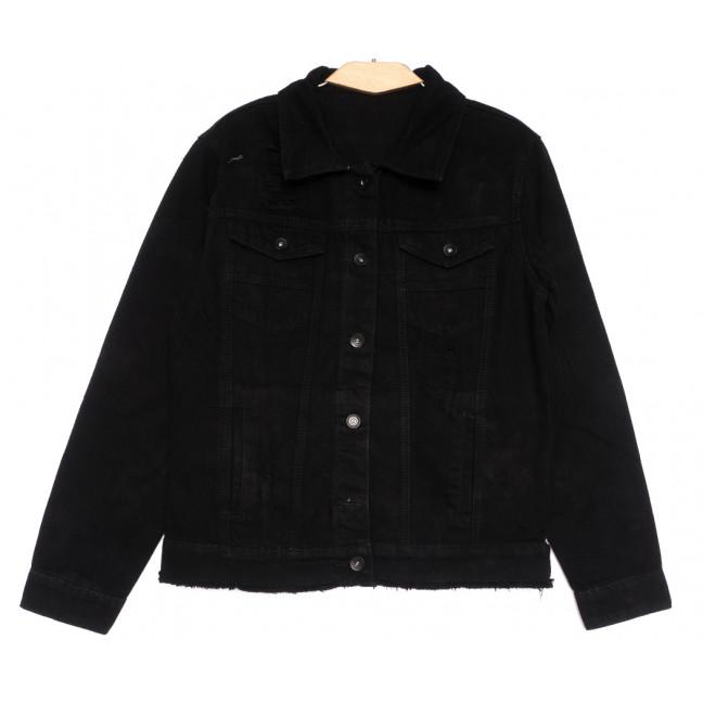 0817 New Jeans куртка джинсовая мужская черная весенняя коттоновая (S-XXL, 6 ед.) New Jeans: артикул 1105127