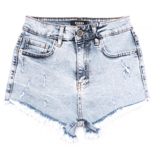 1504 Esqua шорты джинсовые женские с царапками синие коттоновые (25-30, 6 ед.) Esqua: артикул 1110884