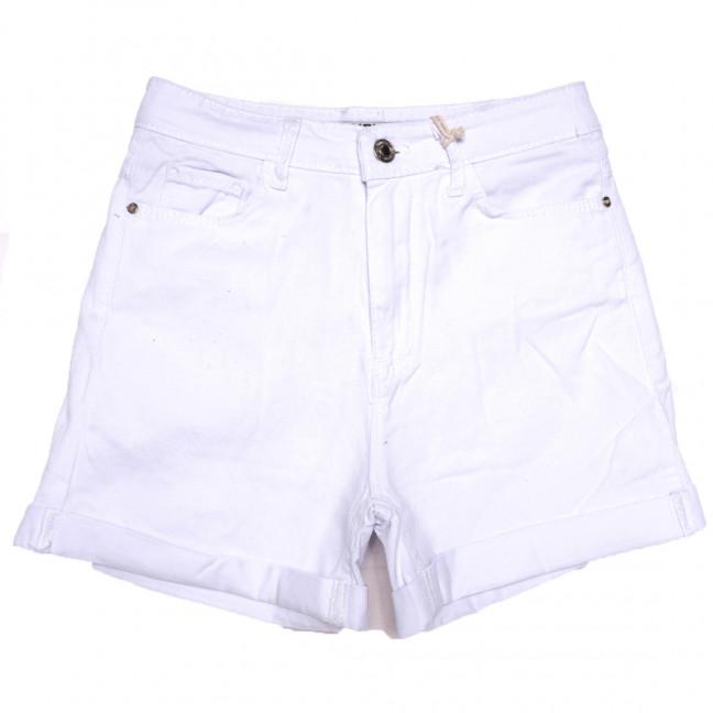 2108 MJS шорты джинсовые женские белые коттоновые (25-32, 6 ед.) MJS: артикул 1110886