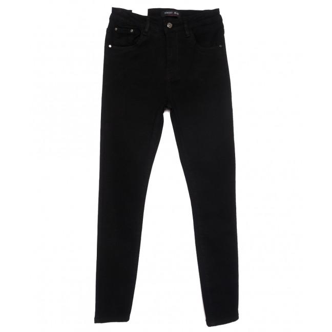 0377 Forest Jeans американка полубатальная черная весенняя стрейчевая (28-33, 6 ед.) Forest Jeans: артикул 1110928