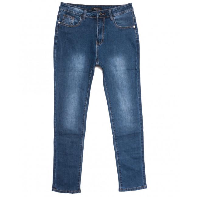 0115-1 Lelena джинсы женские батальные синие осенние стрейчевые (30-36, 6 ед.) Lelena: артикул 1110956