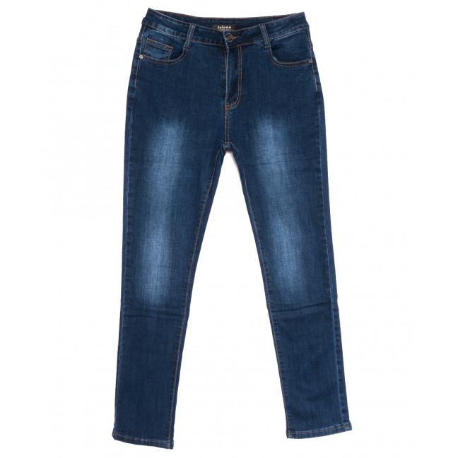 0106-1 Lelena джинсы женские батальные синие осенние стрейчевые (31-38, 6 ед.) Lelena: артикул 1110955
