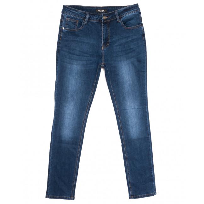 0113-1 Lelena джинсы женские батальные синие осенние стрейчевые (31-38, 6 ед.) Lelena: артикул 1110961