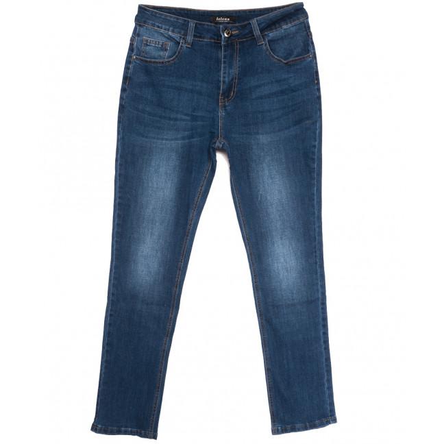 0105-1 Lelena джинсы женские батальные синие осенние стрейчевые (32-42, 6 ед.) Lelena: артикул 1110950