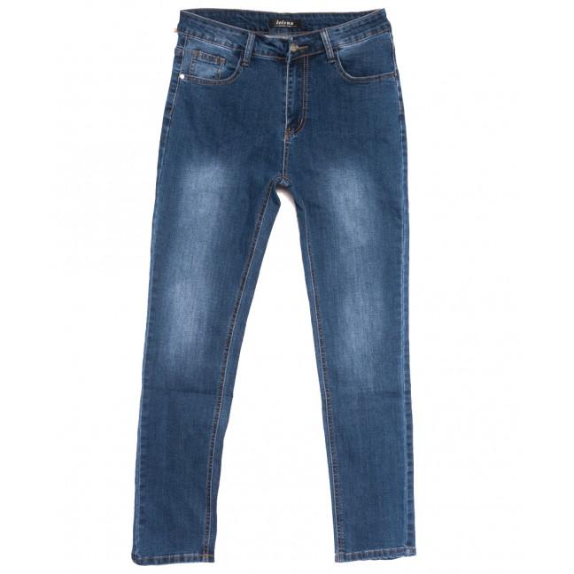 0116-1 Lelena джинсы женские батальные синие осенние стрейчевые (30-36, 6 ед.) Lelena: артикул 1110957