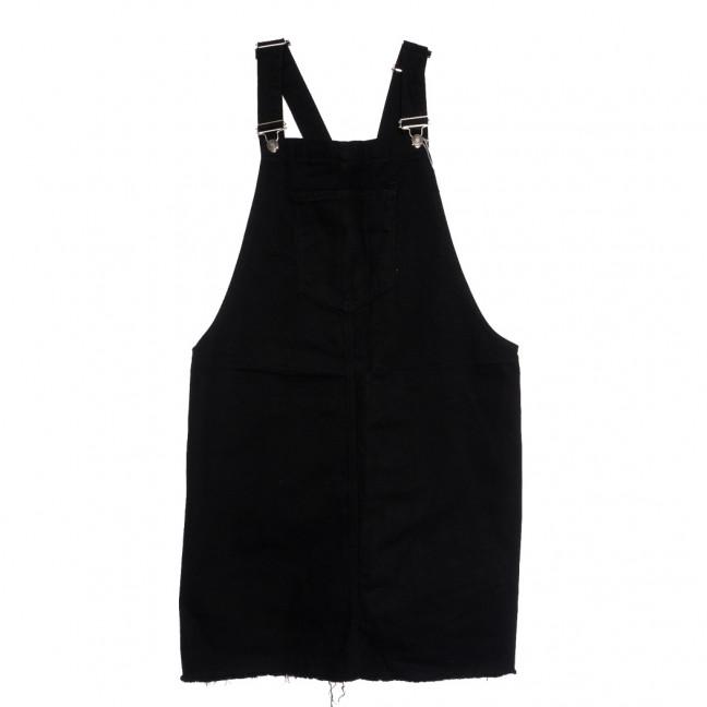3520-1 черный Xray сарафан джинсовый батальный осенний коттоновый (42-48, 4 ед.) XRAY: артикул 1111055