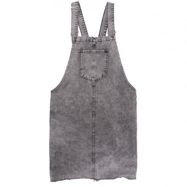 3520 серый Xray сарафан джинсовый батальный осенний коттоновый (42-48, 4 ед.) XRAY: артикул 1111054