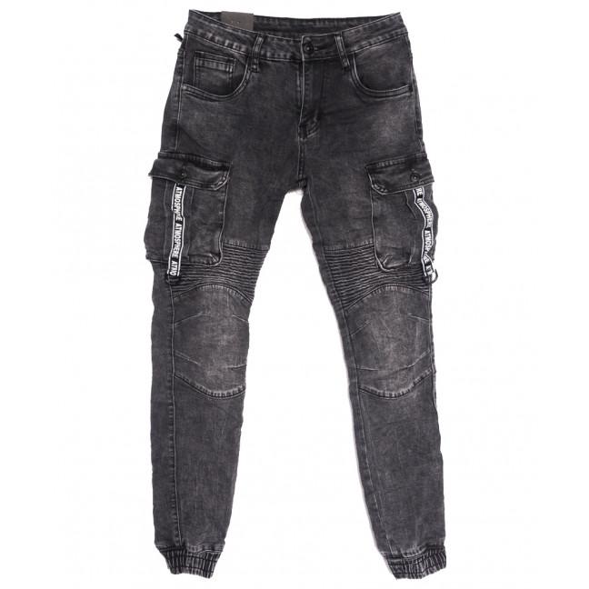 20033-50 Viman джинсы мужские на резинке серые осенние стрейчевые (30-38, 5 ед.) Viman: артикул 1111140