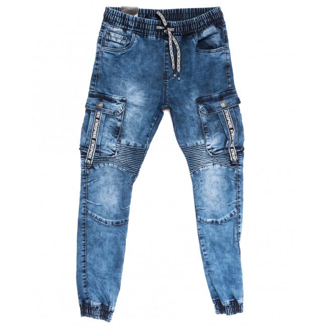 20027-50 Viman джинсы мужские на резинке синие осенние стрейчевые (31-38, 5 ед.) Viman: артикул 1111152