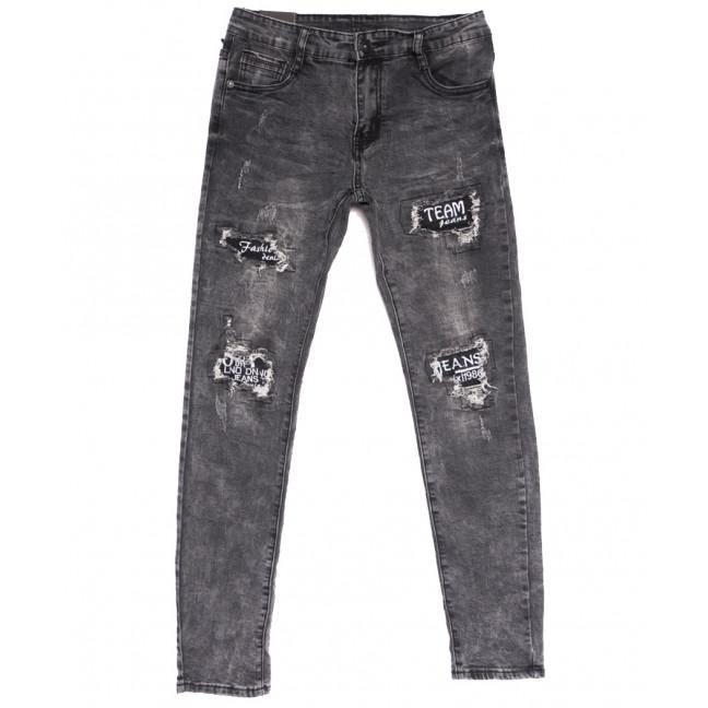 20016-1 Viman джинсы мужские с рванкой серые осенние стрейчевые (30-37, 6 ед.) Viman: артикул 1111137