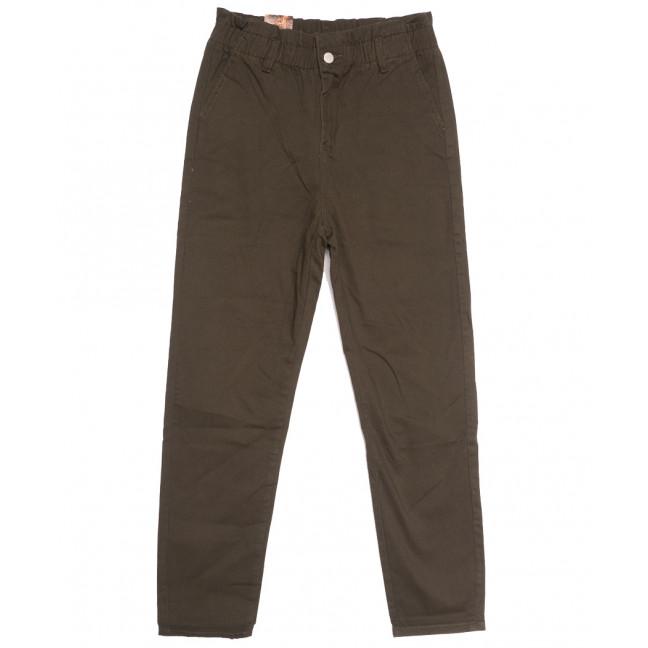 0153-G Moon girl брюки джинсовые женские на резинке коричневые осенние стрейчевые (S-ХL, 5 ед.) M.Sara: артикул 1111202