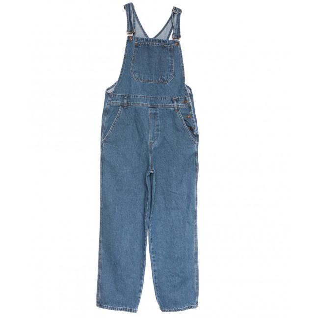 3492 комбинезон джинсовый женский синий осенний коттоновый (XS-L, 6 ед.) Комбинезон: артикул 1111352