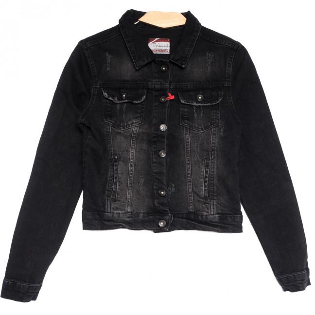 0643 черная Redmoon куртка джинсовая женская c царапками стрейчевая (S-XL, 4 ед.) REDMOON: артикул 1111388