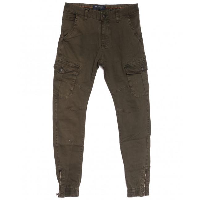 0555-53 хаки M.Sara брюки карго мужские осенние стрейчевые (29-38, 5 ед.) M.Sara: артикул 1111407