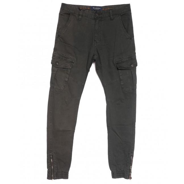 0555-72 M.Sara брюки карго мужские серые осенние стрейчевые (29-34, 5 ед.) M.Sara: артикул 1111404